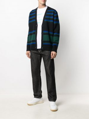 Acne Studios SS21 C60028-AHJ1 Cardigan Sweater Black/blue