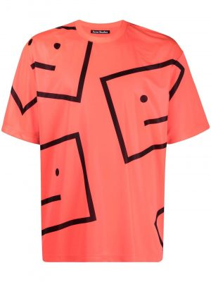 Acne Studios oversized Face print T-shirt