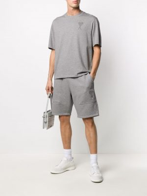 AMI Paris logo track shorts