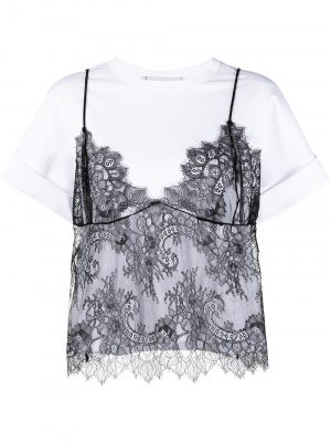 Philosophy layered lace T-shirt