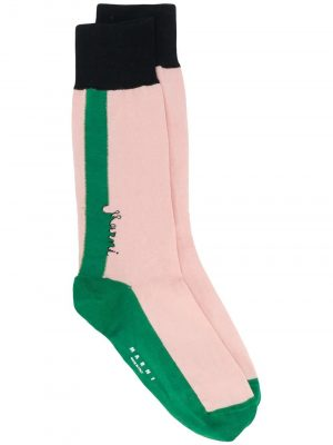 Marni colour-block knitted socks