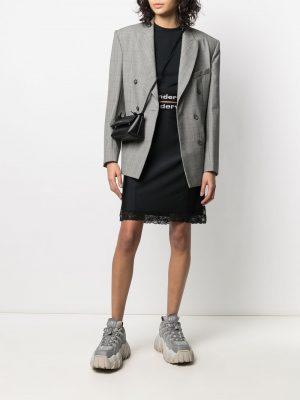 Alexander Wang logo trim skirt