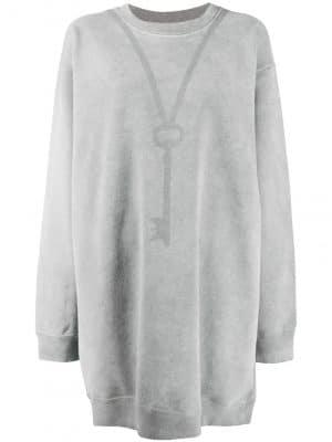MM6 key print detail sweatshirt