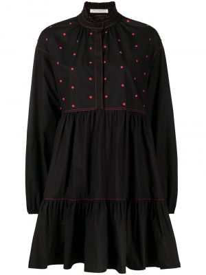 Philosophy studded ruffle neck shirt dress