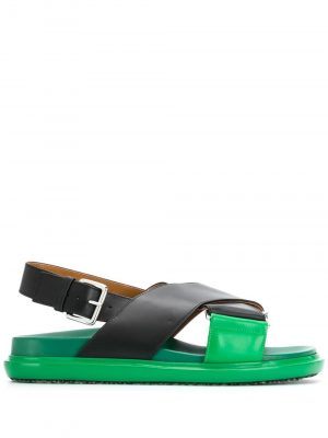 Marni cross-strap leather sandals