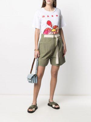 Marni floral logo T-shirt