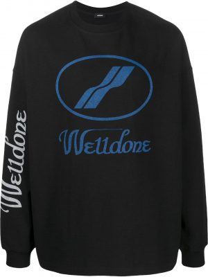 We11done oversized logo sweatshirt