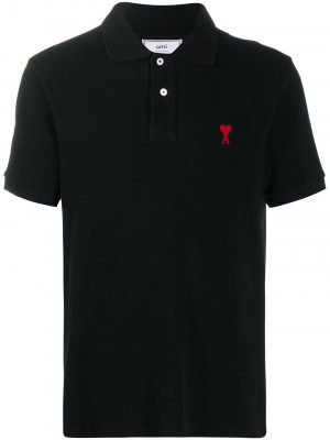 AMI Paris logo-embroidered polo shirt