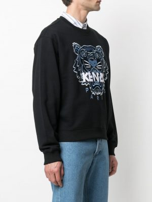 Kenzo 21PS FB55SW1104XA knitted cotton pullover black