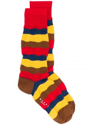 Marni stripe knitted socks