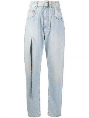Maison Margiela slit-detail tapered jeans