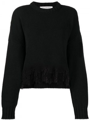 Philosophy lace-trimmed jumper
