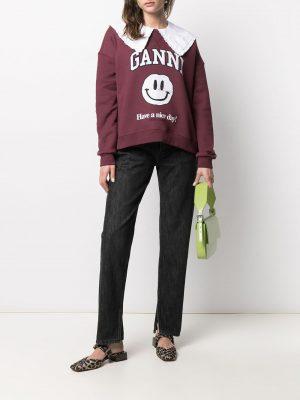 Ganni logo-print jeans