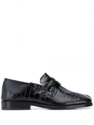 Maison Margiela crocodile-effect Tabi loafers