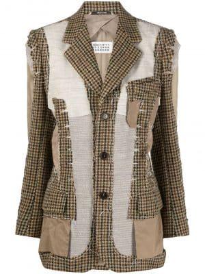 Maison Margiela deconstructed patchwork blazer