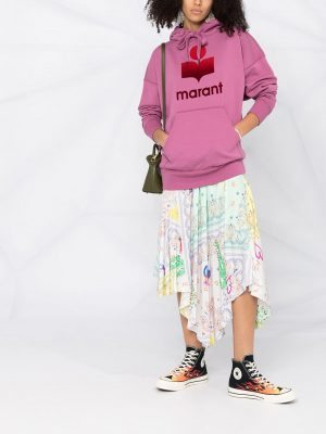 Isabel Marant Etoile logo print hoodie