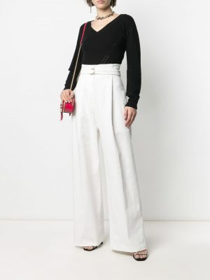 Philosophy belted wide-leg trousers