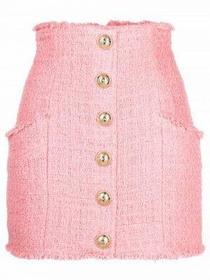 Balmain high-waisted tweed skirt