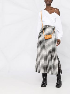 Philosophy high-waisted gingham skirt