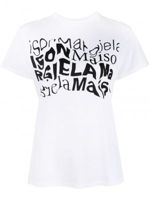 Maison Margiela distorted logo-print T-shirt