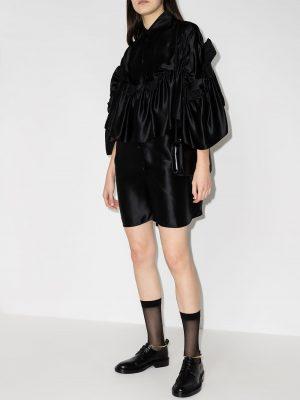 MM6 Maison Margiela ruffle-detailing mini shirtdress