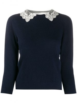 Philosophy lace collar jumper
