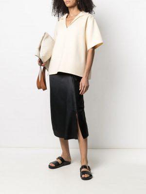 Jil Sander V-neck knitted polo top