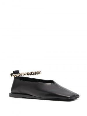 Jil Sander bead-strap court shoes