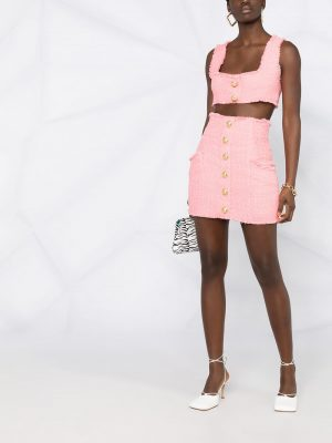 Balmain high-waisted tweed skirt