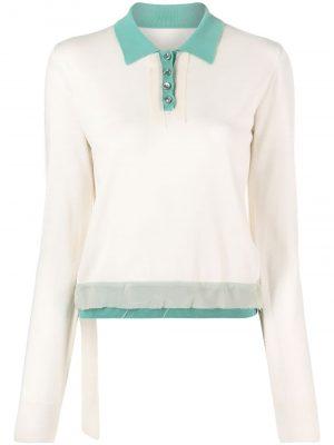 Maison Margiela contrast-trimpolo shirt