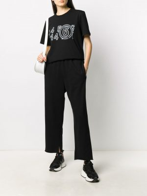 MM6 logo cropped trousers