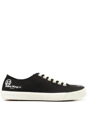 Maison Margiela 21SS S58WS0110 P4044 T8013 Tabi canvas sneakers Black
