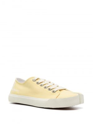 Maison Margiela 21SS S58WS0110 P4044 T3032 Tabi canvas sneakers Yellow