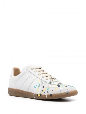Maison Margiela paint splatter sneakers