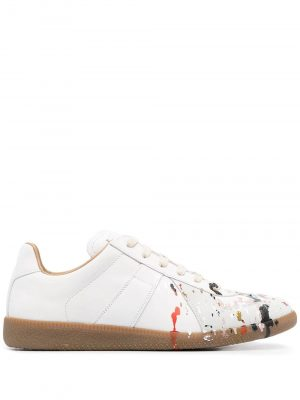 Maison Margiela 21SS S58WS0101 P1892 H8613 Paint Sneakers White/Red