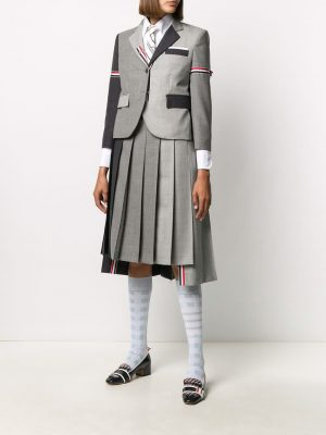 Thom Browne trio colour pleated skirt