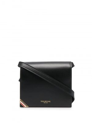 Thom Browne matte-finish crossbody cardholder