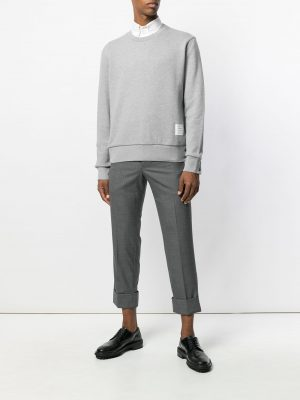 Thom Browne 21SS MJT085A03377055 Centre back stripe pullover Grey