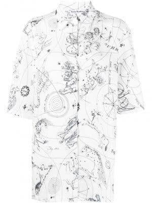 Acne studios 21SS AC03561000 Printed shirt white