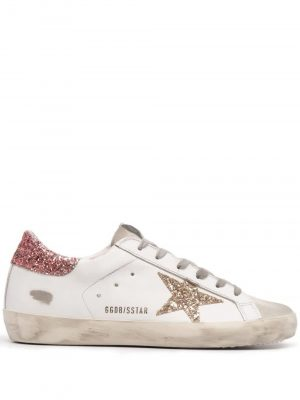 Golden Goose SS21 GWF00101 F001010 Superstar Sneaker Glitter White/Pink