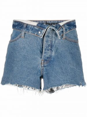 Alexander Wang raw-edge denim shorts