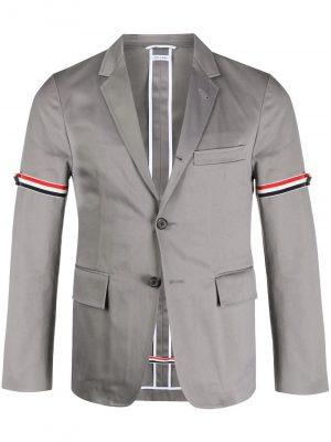 Thom Browne 21SS MJU527A03788035 4 bar classic blazer Grey