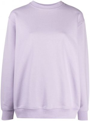 Acne Studios 21SS AI0086ADH10 Flokka pink label sweatshirt Lavender