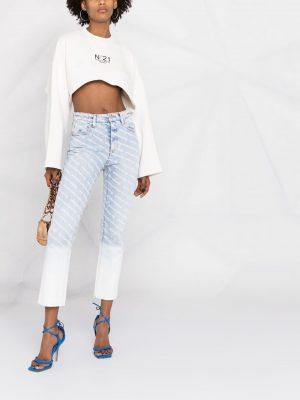 Alexander Wang monogram-pattern jeans