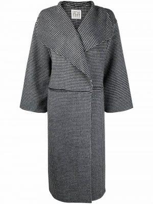 Toteme oversized houndstooth-print coat