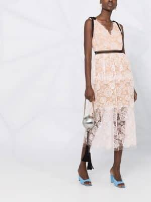 Self Portrait Rose lace midi dress