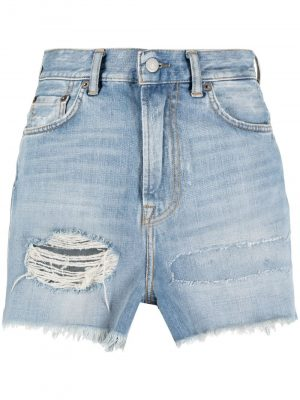 Acne Studios ripped detailing shorts