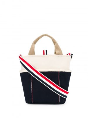 Thom Browne canvas bucket bag