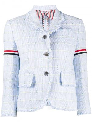 Thom Browne frayed tweed blazer