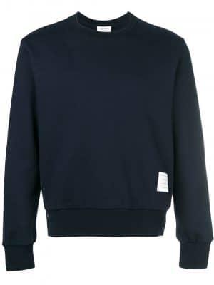 Thom Browne center-back stripe sweatshirt